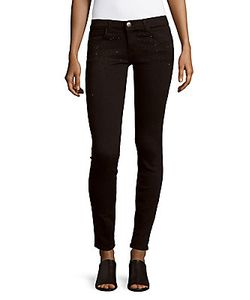 Current/Elliott | Embellished Skinny-Fit Ankle Jeans