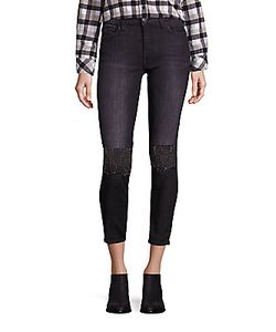 Current/Elliott | The Stiletto Embellished Skinny Jeans
