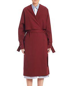 Rosetta Getty | Stretch Wool Shawl Trench Coat