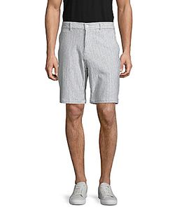 Slate And Stone | Madison Striped Cotton-Blend Shorts