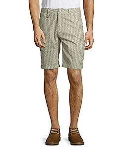 Publish | Striped Textured Cotton Shorts
