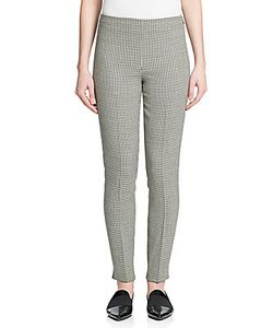 Ralph Lauren | Label Annie Stretch-Wool Crepe Houndstooth Pants