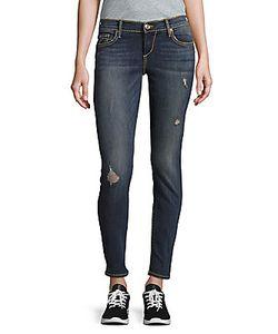 True Religion | Cotton-Blend Distressed Denim Pants/