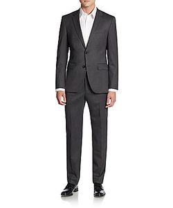 Boss Hugo Boss | Regular-Fit The Grand Central Herringbone Wool Suit