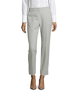 Giorgio Armani   Solid Cotton-Blend Pants