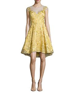Marchesa Notte | Embroidered Dress