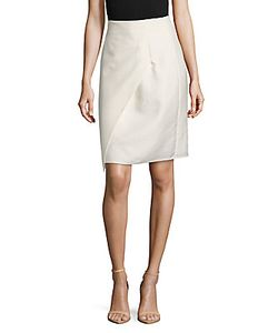 Akris | Cotton-Blend Flap Pencil Skirt