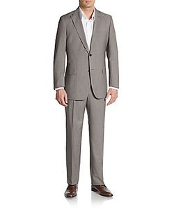 Boss Hugo Boss | Regular-Fit Tic Weave Virgin Wool Suit