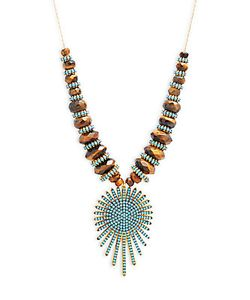 Azaara | 22k Goldplated Sunburst Pendant Necklace