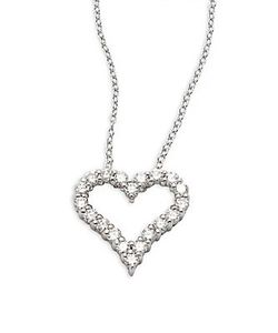 Effy | Diamond 14k Heart Pendant Necklace