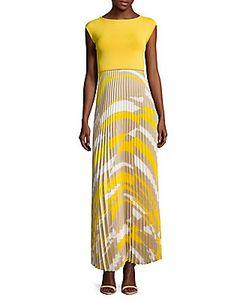 Max Mara   Two-Tone Pleated Dress