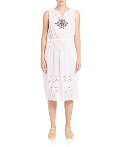 Suno | Embroidered Laser-Cut Dress
