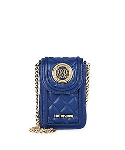 Love Moschino | Quilted Faux Leather Crossbody Pouch
