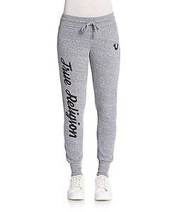True Religion | Slim Rhinestone-Detailed Sweatpants