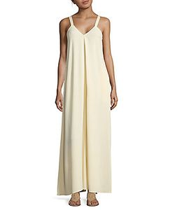 Helmut Lang   Pleated Cami Jumper Gown