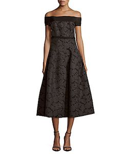 J. Mendel | Wool-Blend Off-The-Shoulder Dress