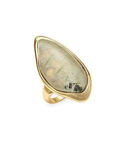 Alexis Bittar | Labradorite Quartz 10kplated Ring