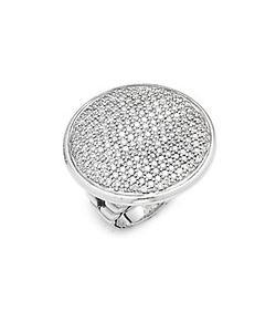 John Hardy | Rounded Diamond Sterling Ring