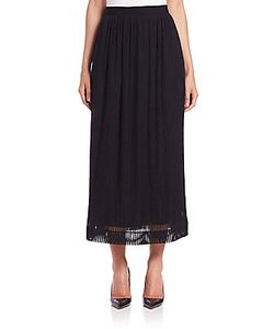Tamara Mellon | Sheer-Stripe Midi Skirt