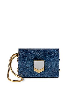 Jimmy Choo | Chain-Strap Glittery Clutch