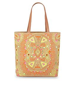 Antik Batik | Embroidered Canvas Tote Bag