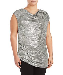 Calvin Klein | Cowlneck Sleeveless Asymmetric Top