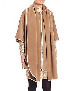 Akris Punto | Contrast Piping Wool Cashmere Cape