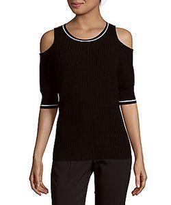 Zoe Jordan | Mayer Rib-Knit Cold-Shoulder Pullover