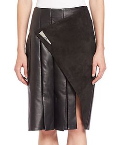 Prabal Gurung | Leather Suede Slit Skirt