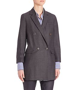 Brunello Cucinelli | Prince Of Wales Stretch Wool Jacket