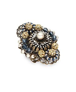 MIRIAM HASKELL | Faux Pearl Cocktail Ring