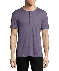 John Varvatos | Solid Short Sleeve Henley Shirt