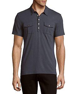 John Varvatos | Solid Short Sleeve Polo Shirt