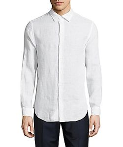 Armani Collezioni | Textured Long-Sleeve Casual Shirt