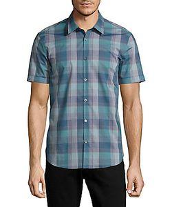John Varvatos | Button-Down Cotton Plaid Casual Shirt