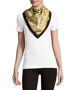 Versace | Carre Printed Square-Shaped Foulard Scarf
