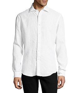 Breuer | Solid Long-Sleeve Casual Linen Shirt