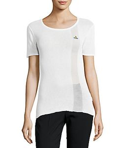 Vivienne Westwood   Roundneck Ribbed Cotton Tee