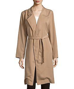 Lucca Couture | Open-Front Waist-Tie Coat