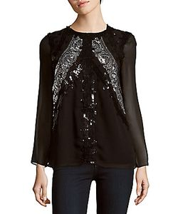 Altuzarra | Long Sleeve Sequined Blouse