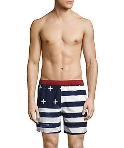 Tavik | Amerika Striped Colorblock Swim Shorts