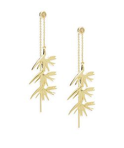 Noir | Coconut Plant Threader Earrings