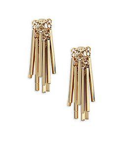 Eddie Borgo   18k Plated Fringe Earrings