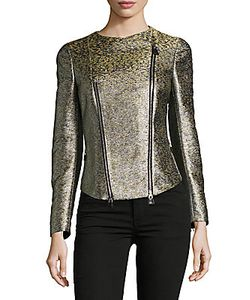 Akris | Textured Asymmetric Zipper Jacket
