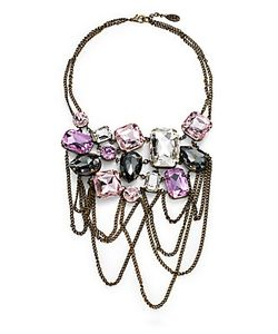 Joanna Laura Constantine | Multicolo Glass Stone Bib Necklace