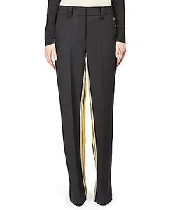 Alberta Ferretti   Straight-Leg Pants With Sport Stripes