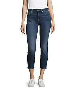 7 For All Mankind | Karah Cropped Five-Pocket Jeans