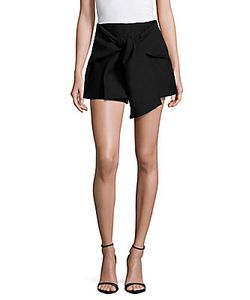C/Meo | Solid Tie-Front Shorts