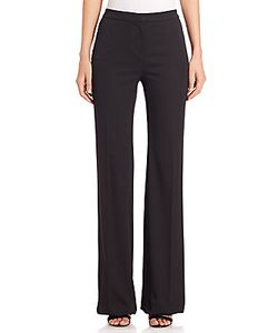 Carolina Herrera | Wool Wide-Leg Tuxedo Pants