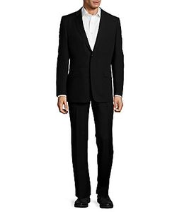 Versace | Classic Fit Solid Wool Suit